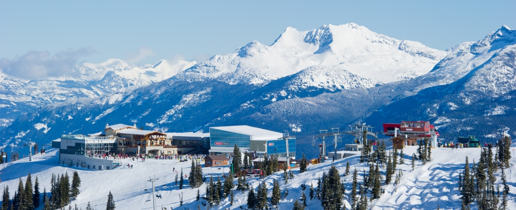 Extensive lift system on Whistler Mountain