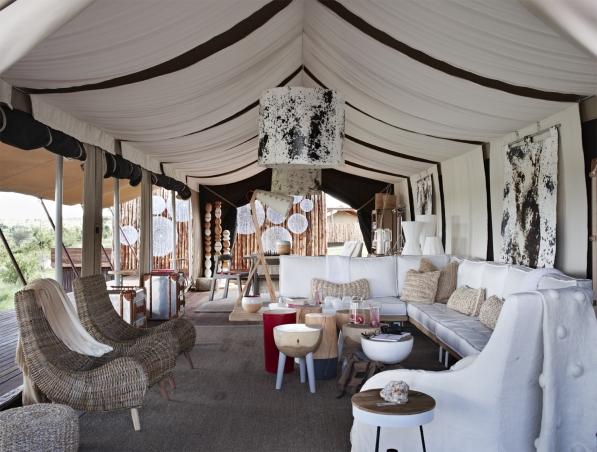 Singita Mara River Tented Camp , Lounge Area