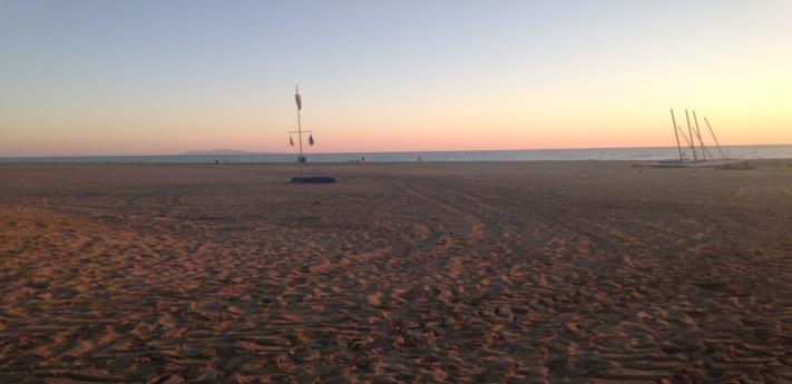 The beach near L'Andana